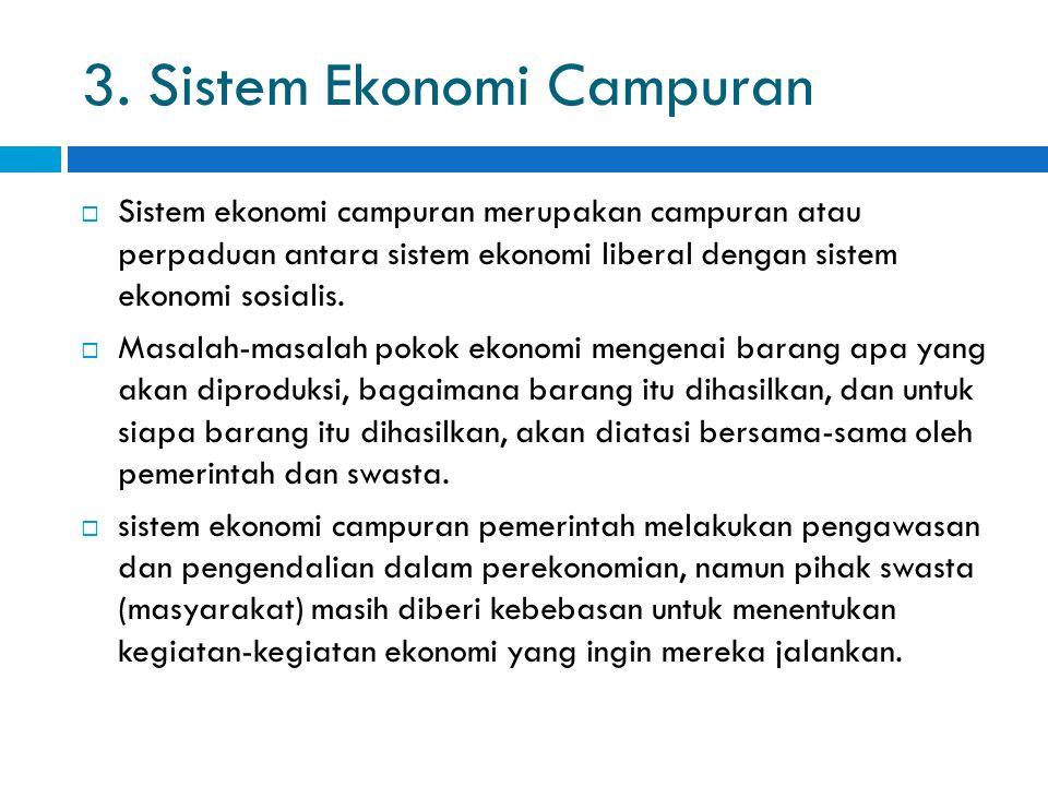 3. Sistem Ekonomi Campuran
