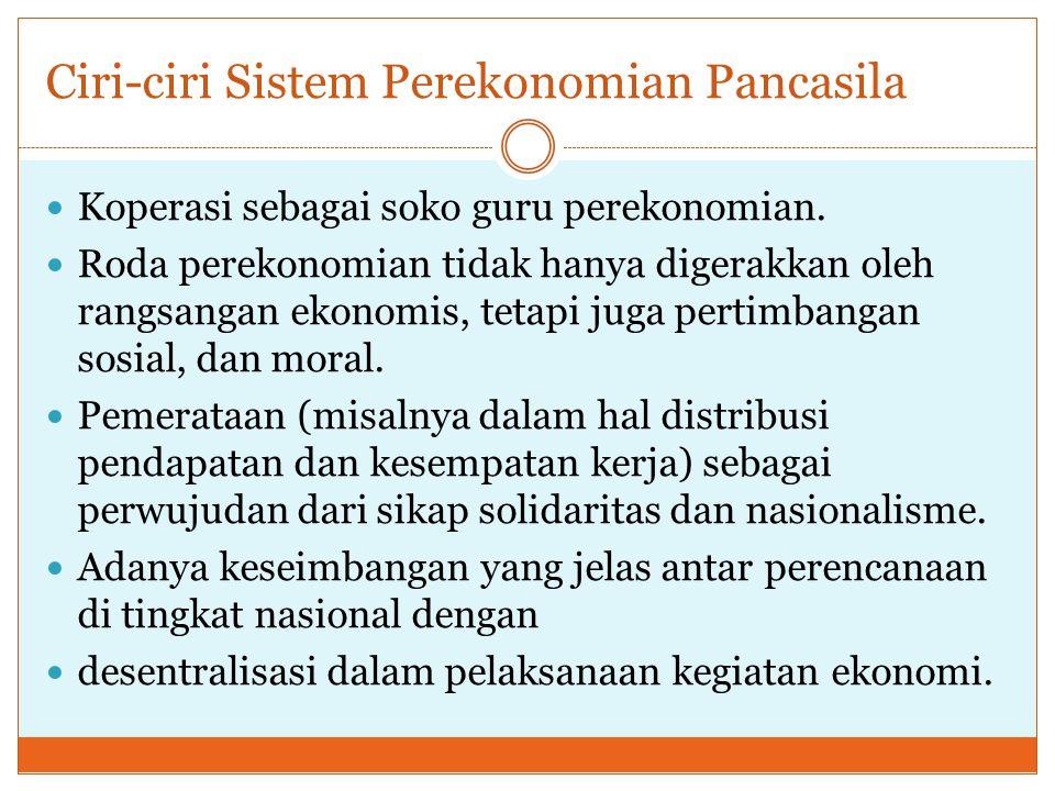 Ciri-ciri Sistem Perekonomian Pancasila