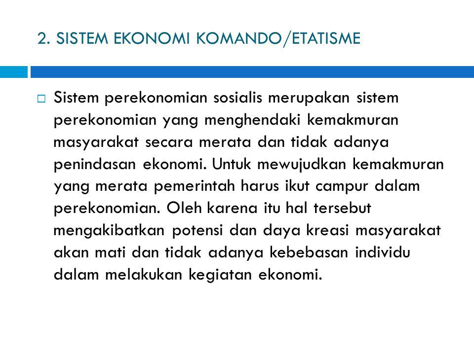 2. SISTEM EKONOMI KOMANDO/ETATISME