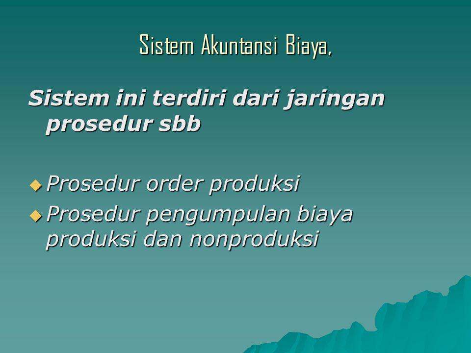 Sistem Akuntansi Biaya,