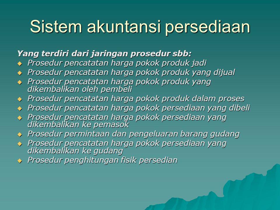 Sistem akuntansi persediaan