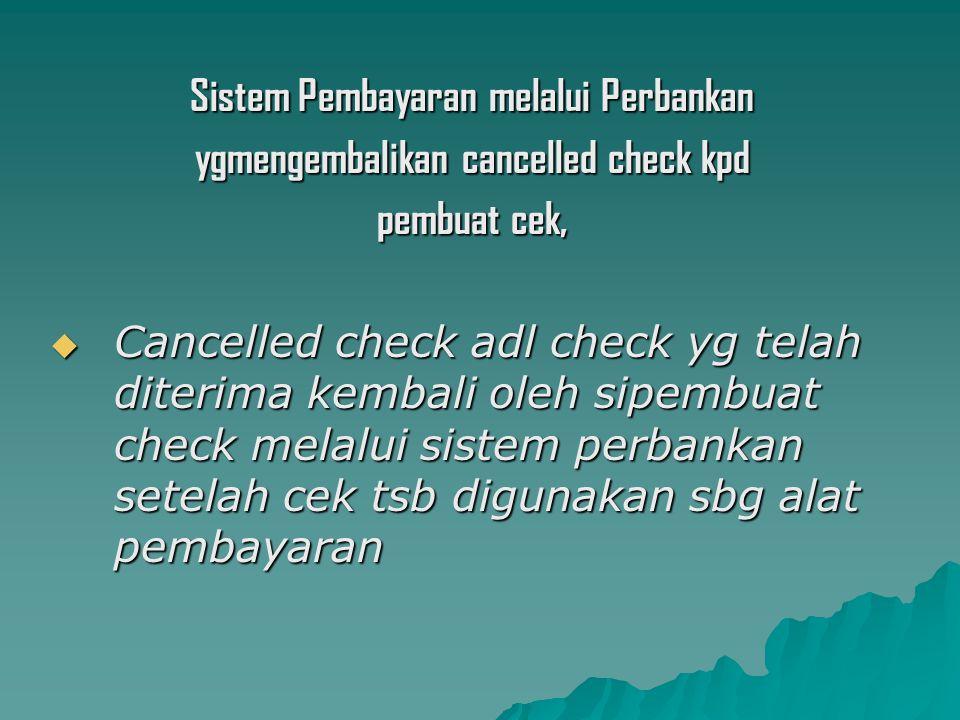 Sistem Pembayaran melalui Perbankan