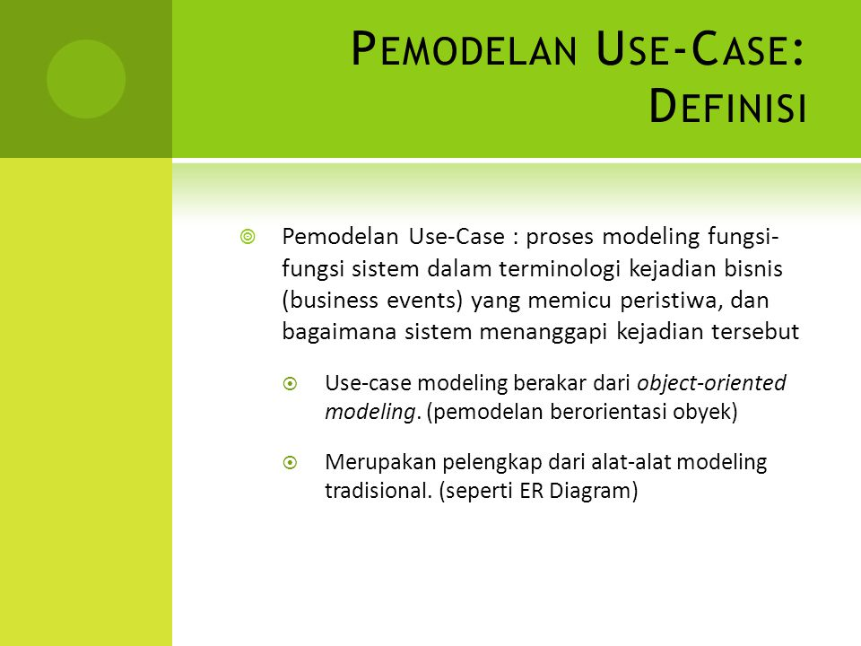 Pemodelan Use-Case: Definisi