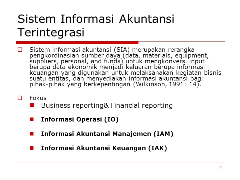 Sistem Informasi Akuntansi Terintegrasi