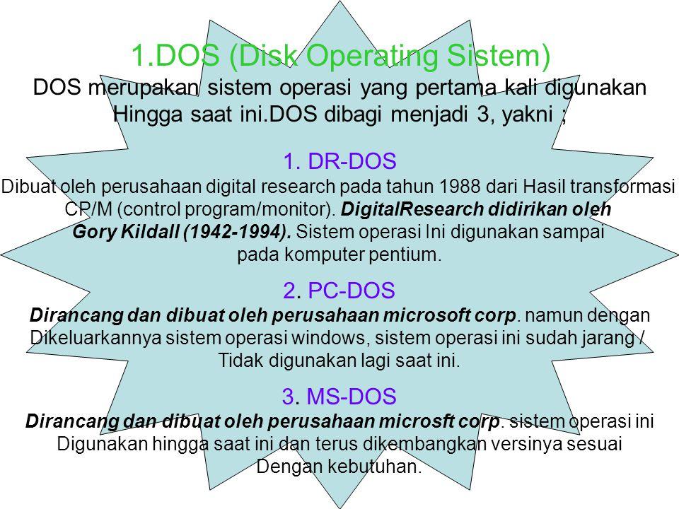 DOS (Disk Operating Sistem)