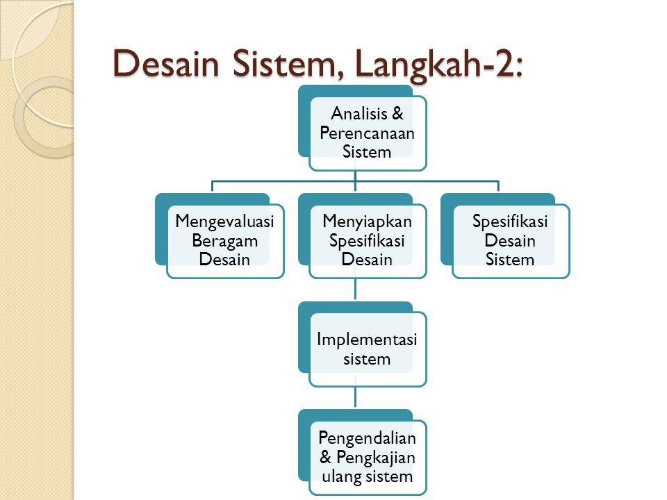 Desain Sistem, Langkah-2: