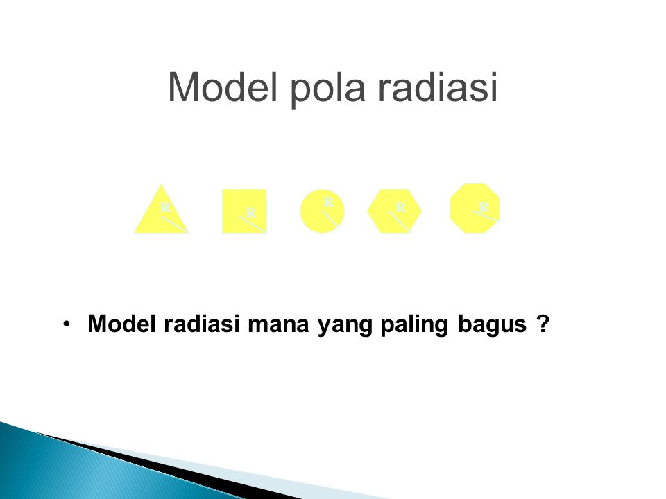 Model pola radiasi R R R R R Model radiasi mana yang paling bagus