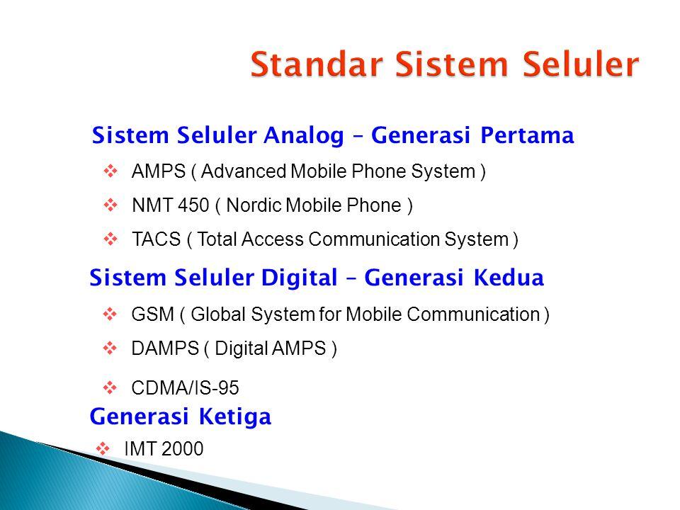 Standar Sistem Seluler