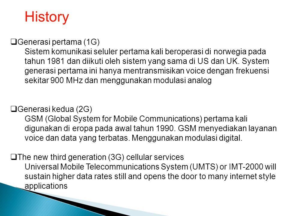 History Generasi pertama (1G)