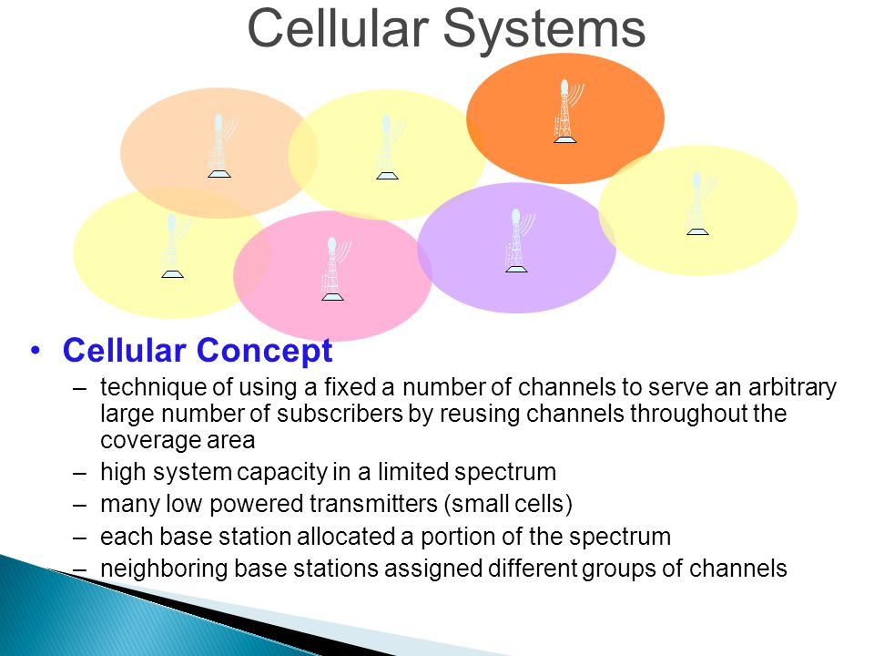 Cellular Systems Cellular Concept