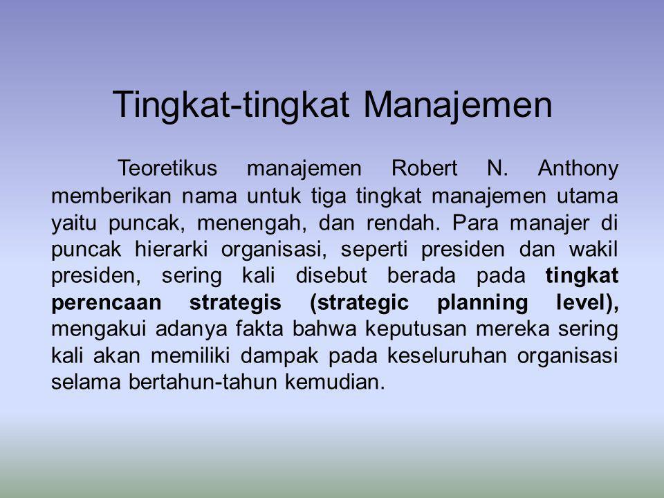 Tingkat-tingkat Manajemen