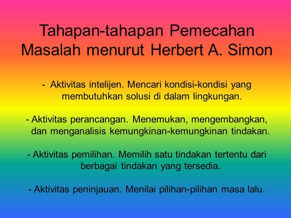 Tahapan-tahapan Pemecahan Masalah menurut Herbert A