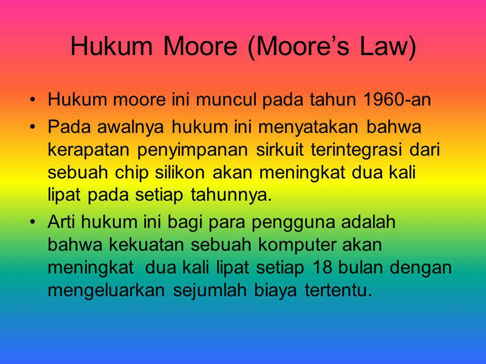 Hukum Moore (Moore's Law)