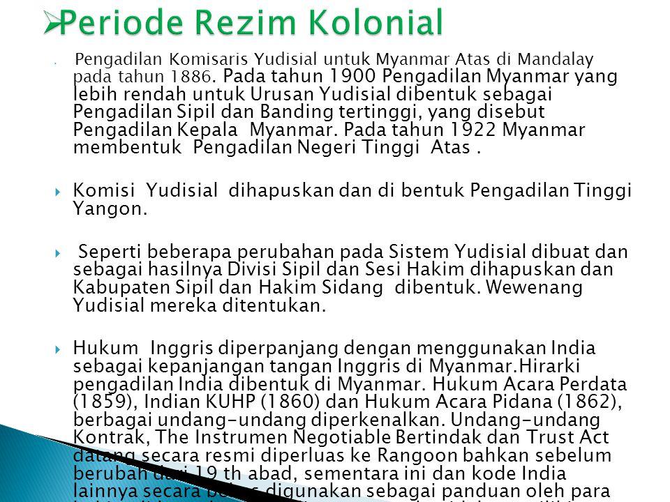Periode Rezim Kolonial