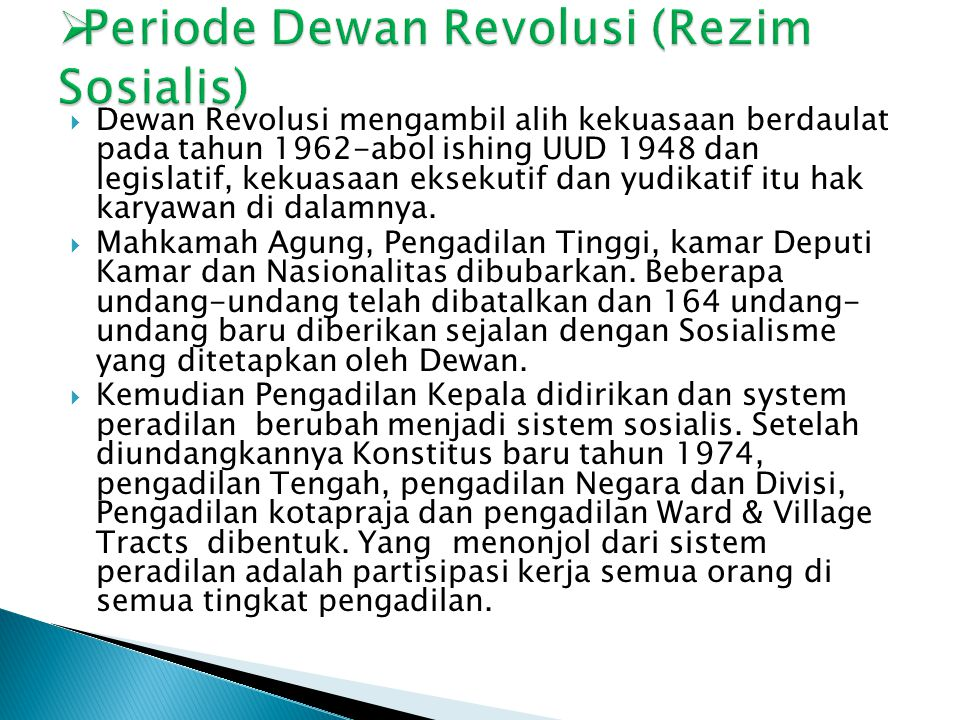 Periode Dewan Revolusi (Rezim Sosialis)
