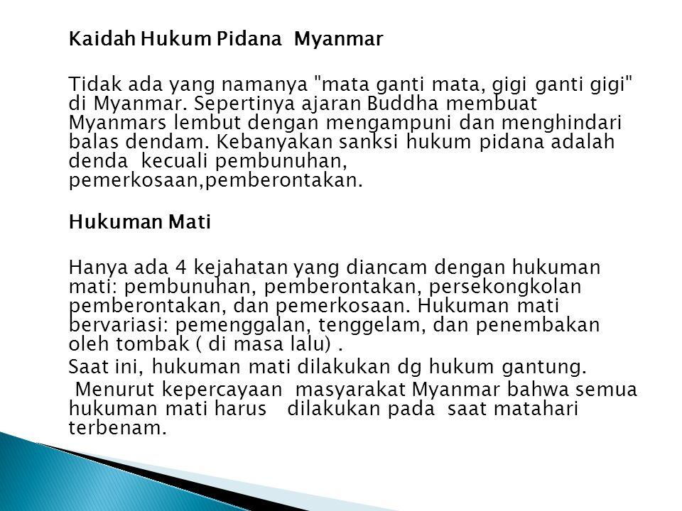 Kaidah Hukum Pidana Myanmar