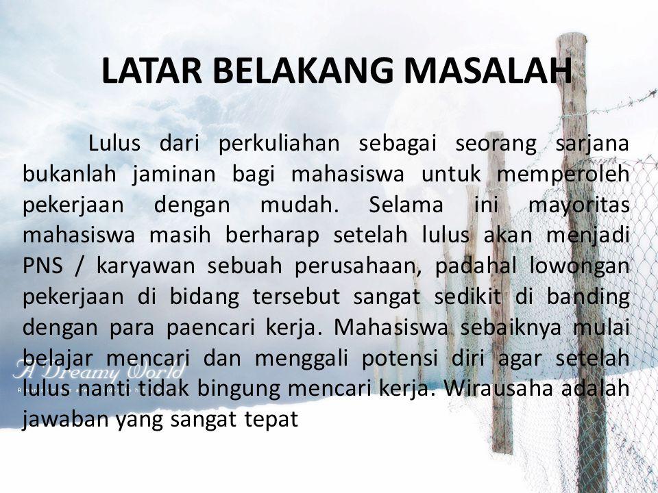 LATAR BELAKANG MASALAH