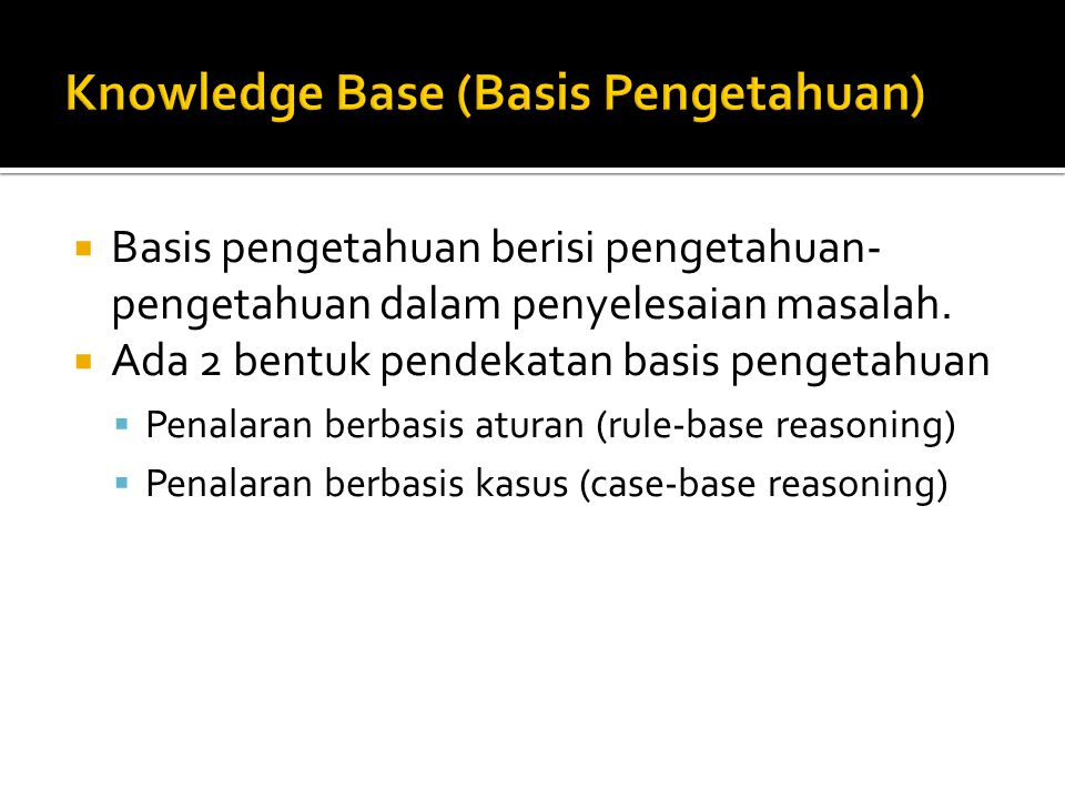 Knowledge Base (Basis Pengetahuan)