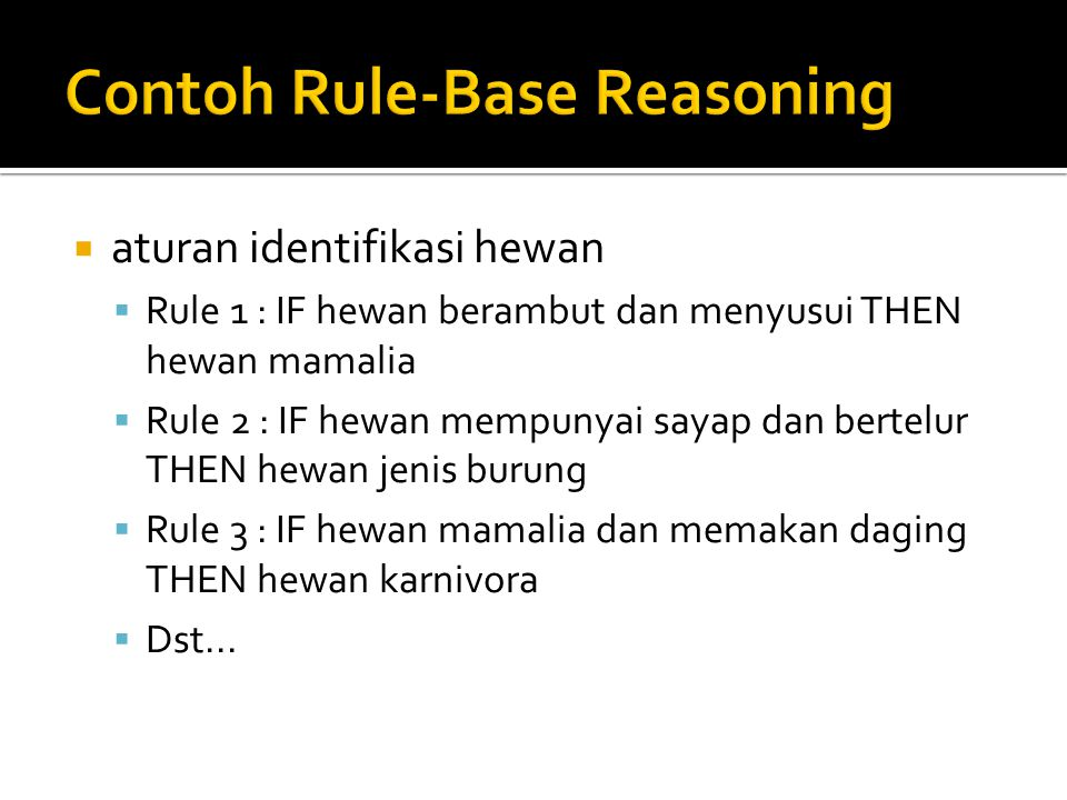 Contoh Rule-Base Reasoning