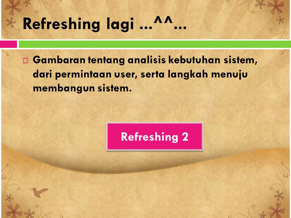 Refreshing lagi ...^^... Refreshing 2