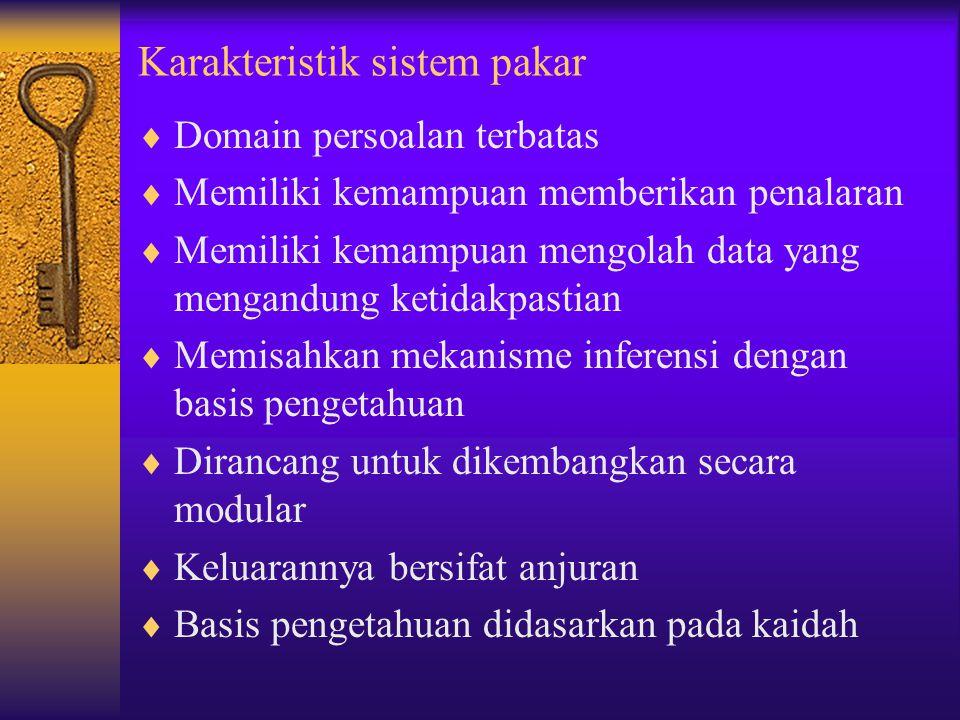 Karakteristik sistem pakar
