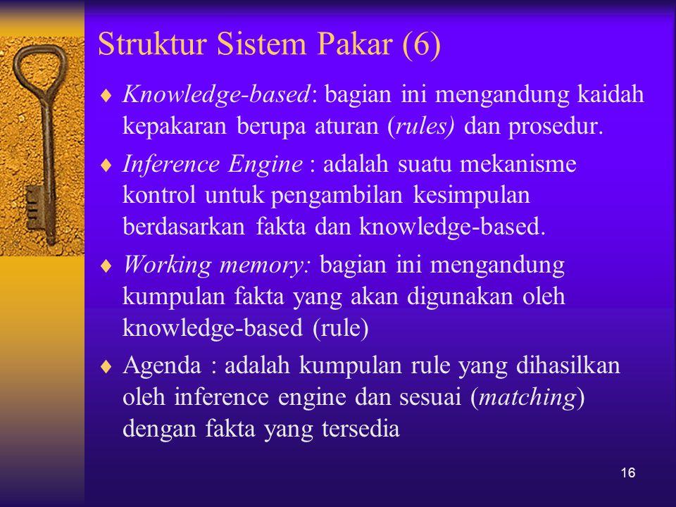 Struktur Sistem Pakar (6)