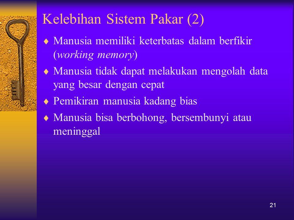 Kelebihan Sistem Pakar (2)