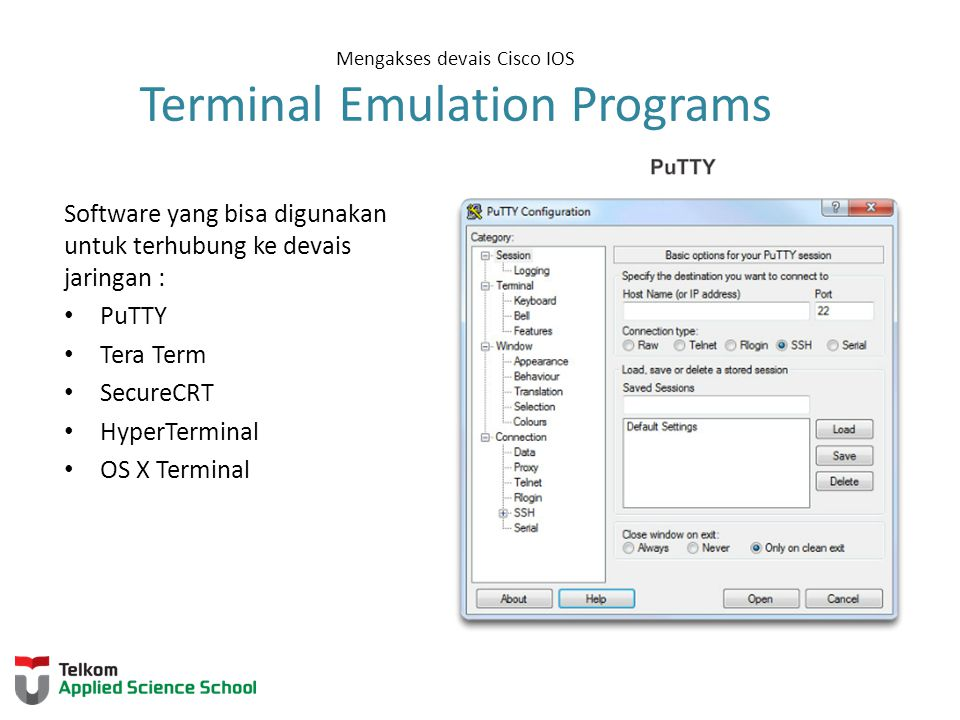 Mengakses devais Cisco IOS Terminal Emulation Programs