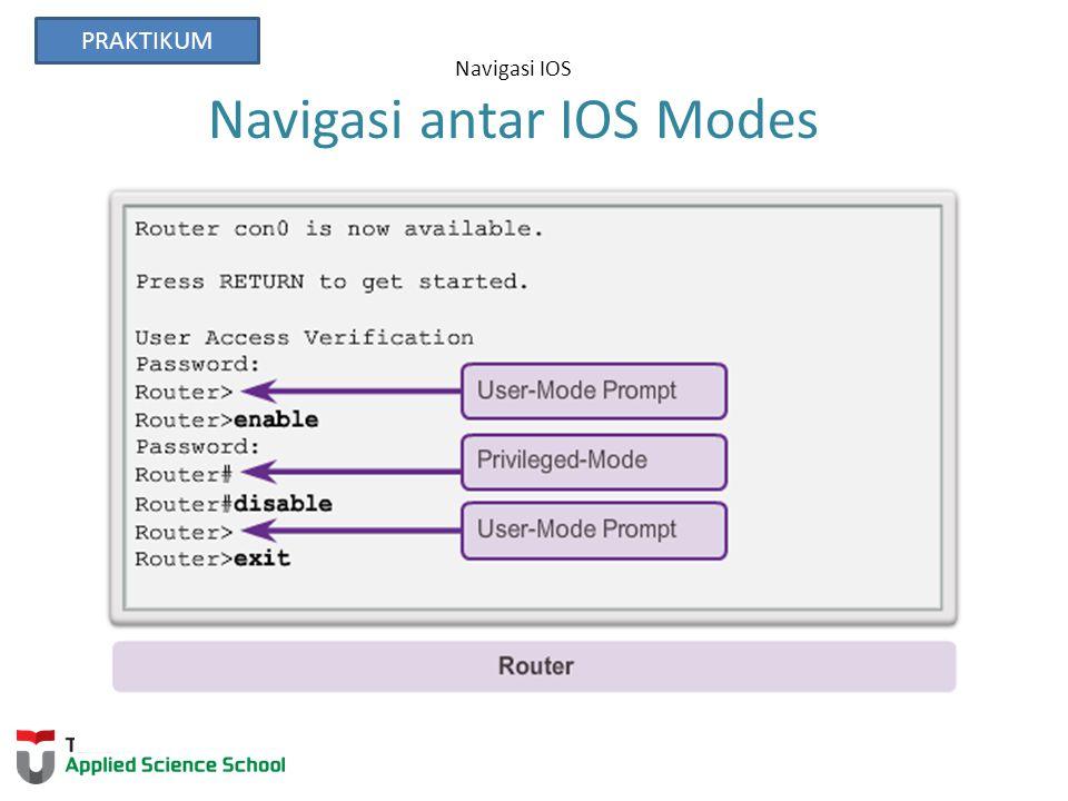 Navigasi IOS Navigasi antar IOS Modes