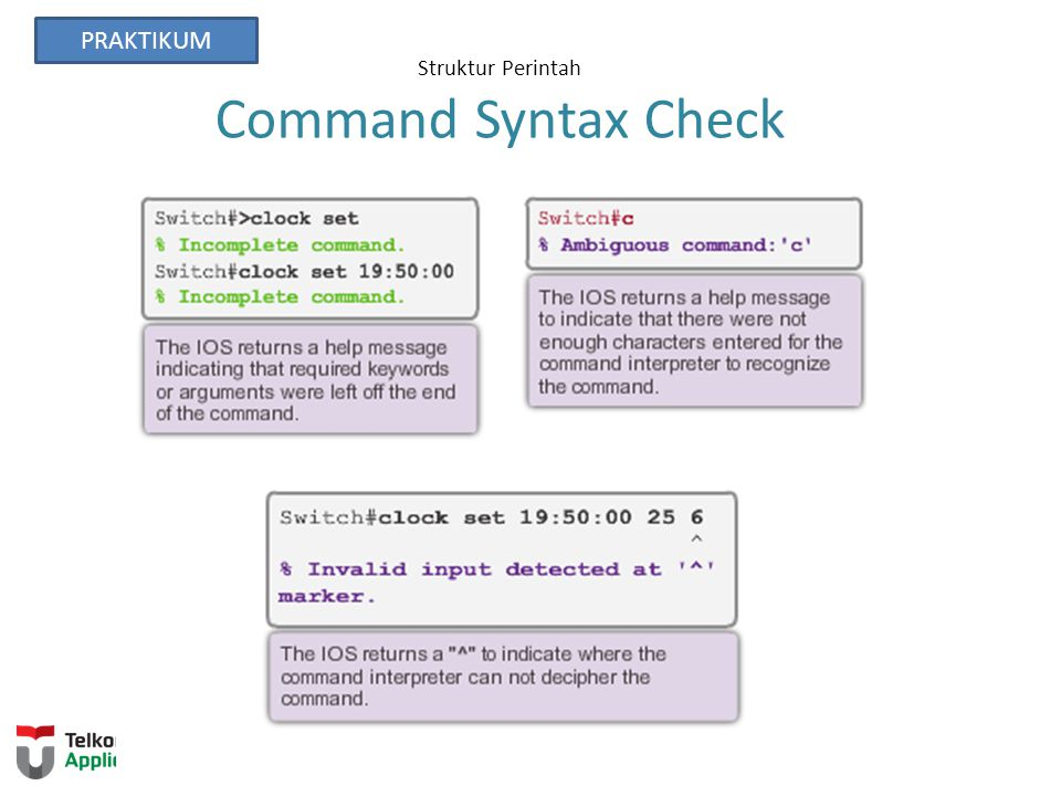Struktur Perintah Command Syntax Check