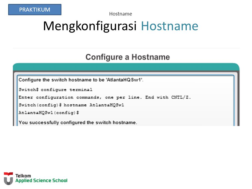 Hostname Mengkonfigurasi Hostname