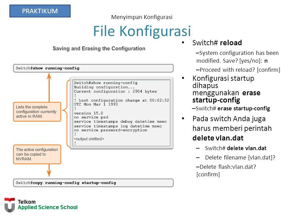 Menyimpan Konfigurasi File Konfigurasi