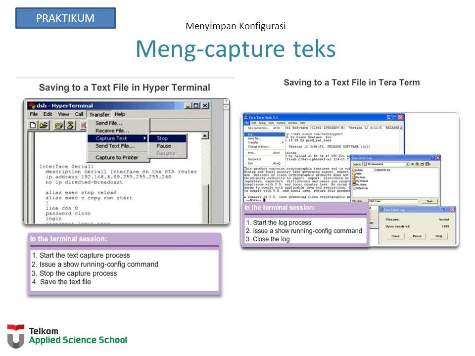 Menyimpan Konfigurasi Meng-capture teks