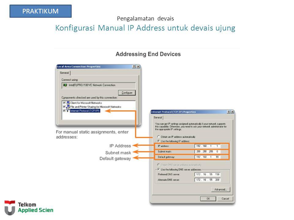 Pengalamatan devais Konfigurasi Manual IP Address untuk devais ujung