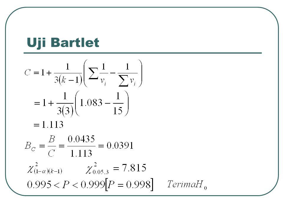 Uji Bartlet