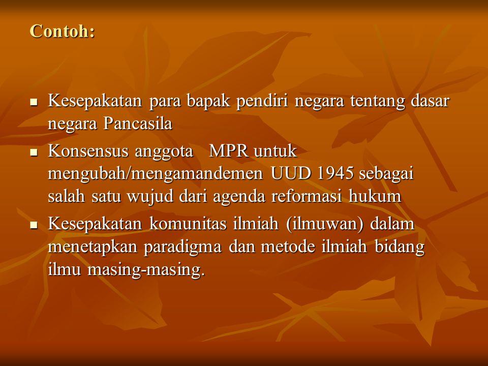 Kesepakatan para bapak pendiri negara tentang dasar negara Pancasila