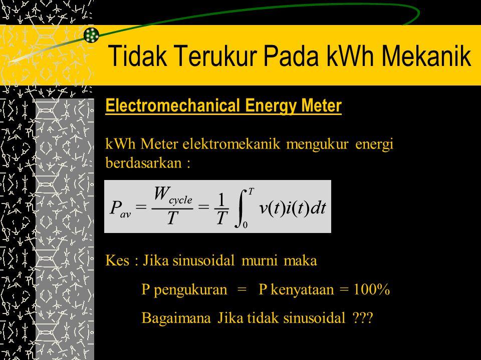 Tidak Terukur Pada kWh Mekanik