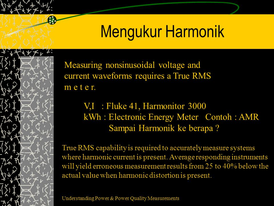 Mengukur Harmonik Measuring nonsinusoidal voltage and