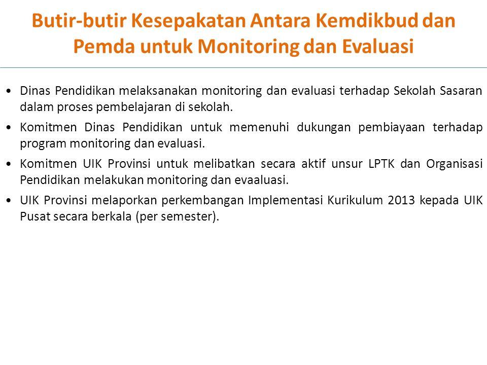 Butir-butir Kesepakatan Antara Kemdikbud dan Pemda untuk Monitoring dan Evaluasi
