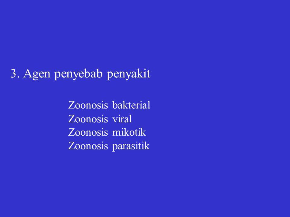 3. Agen penyebab penyakit. Zoonosis bakterial. Zoonosis viral
