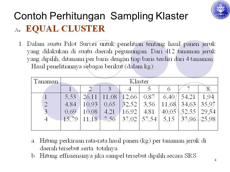 Contoh Perhitungan Sampling Klaster