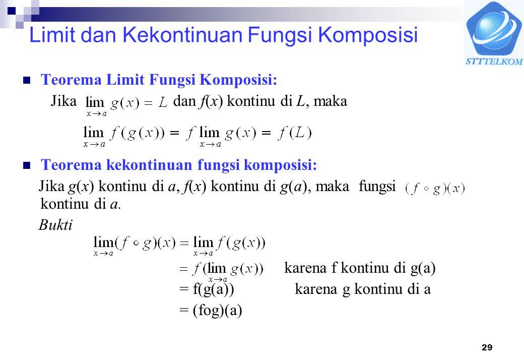 Limit dan Kekontinuan Fungsi Komposisi