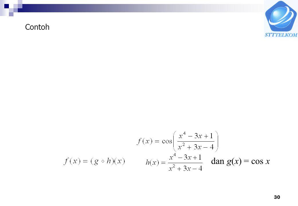 Contoh dan g(x) = cos x