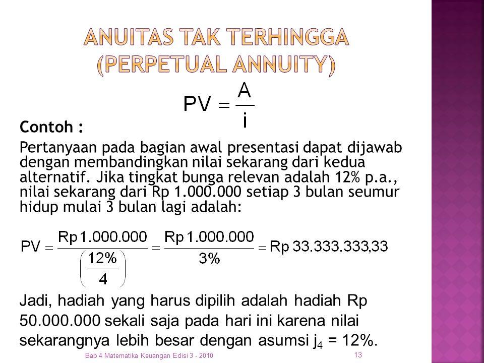 ANUITAS TAK TERHINGGA (PERPETUAL ANNUITY)