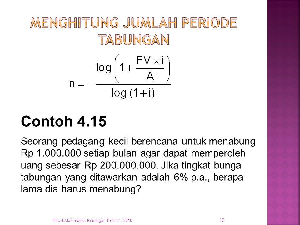 MENGHITUNG JUMLAH PERIODE TABUNGAN