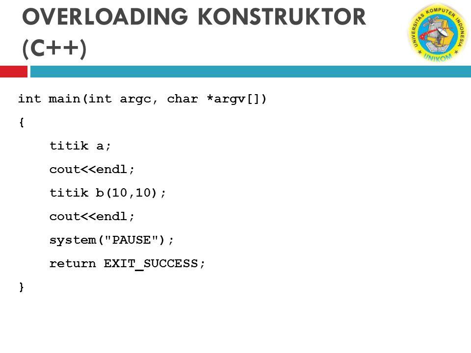 OVERLOADING KONSTRUKTOR (C++)