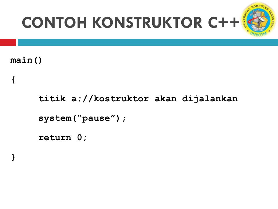CONTOH KONSTRUKTOR C++