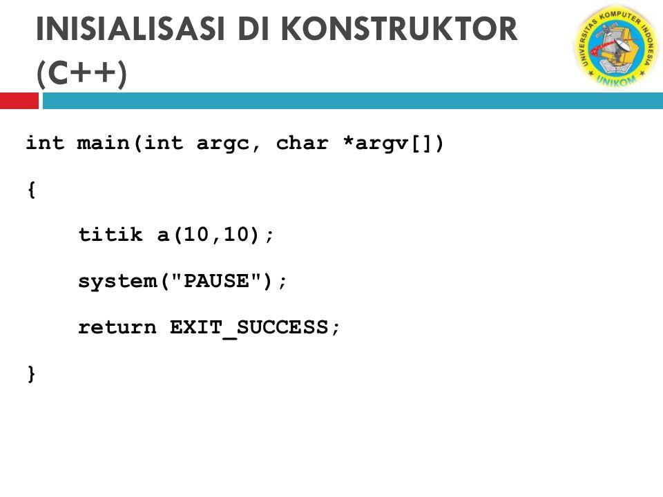 INISIALISASI DI KONSTRUKTOR (C++)