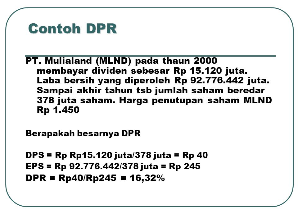 Contoh DPR