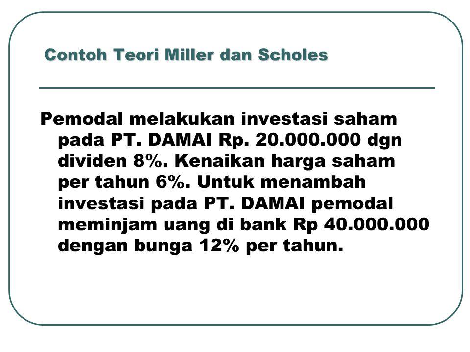 Contoh Teori Miller dan Scholes